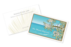 ハワイ ウエディング カード