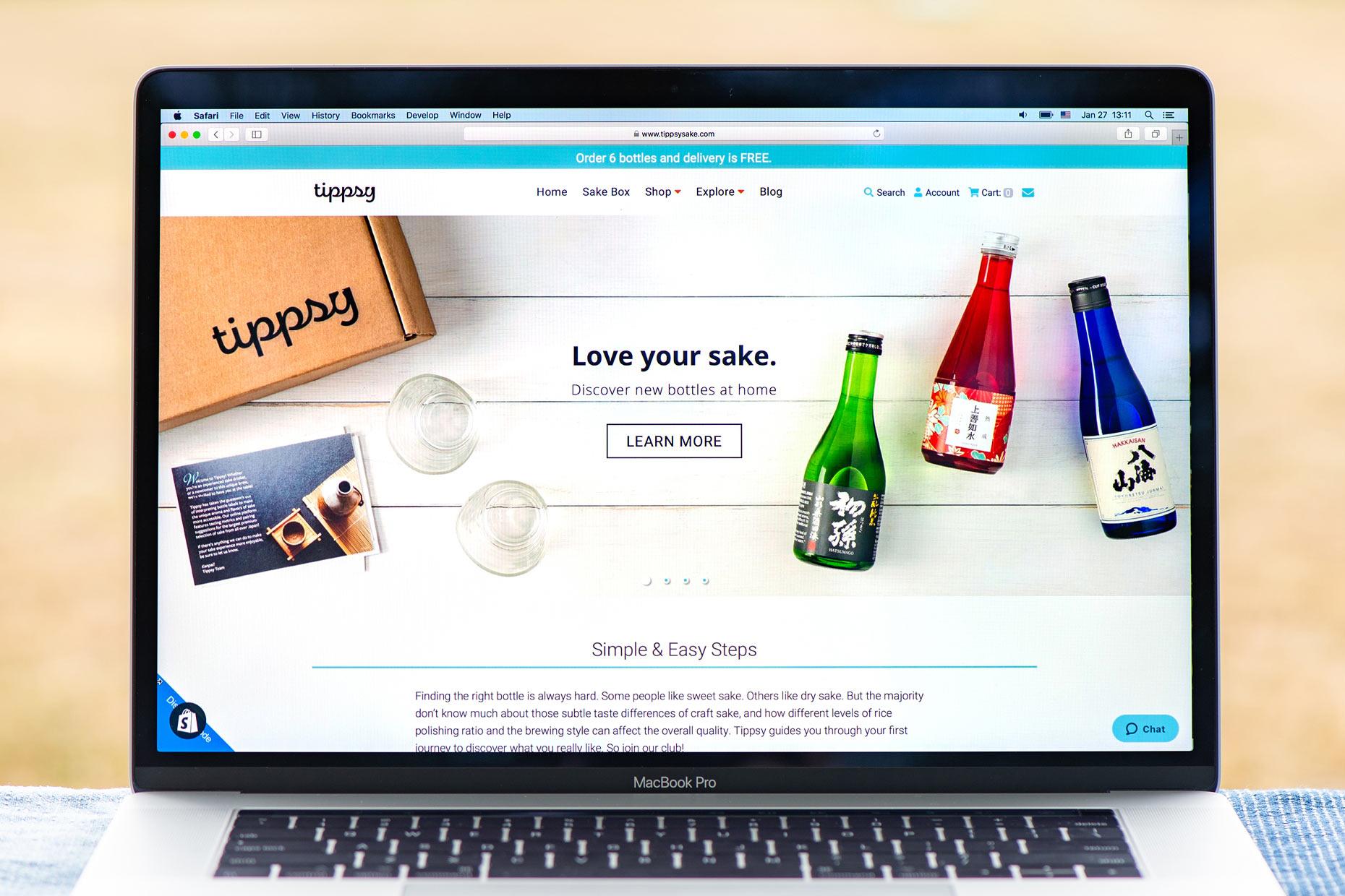 Tippsy ウェブサイト