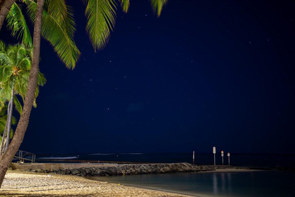 ワイキキビーチから見える南十字座
