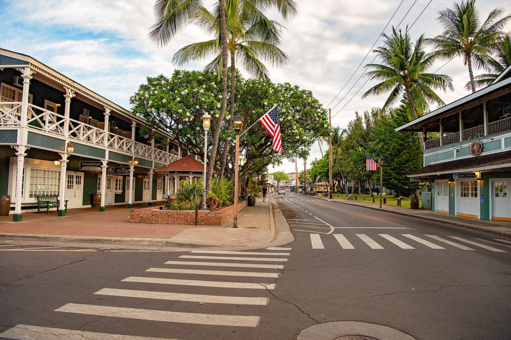 ラハイナの町(マウイ島)