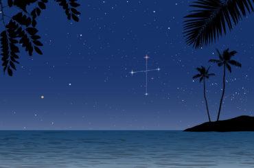ハワイの南十字座イラスト